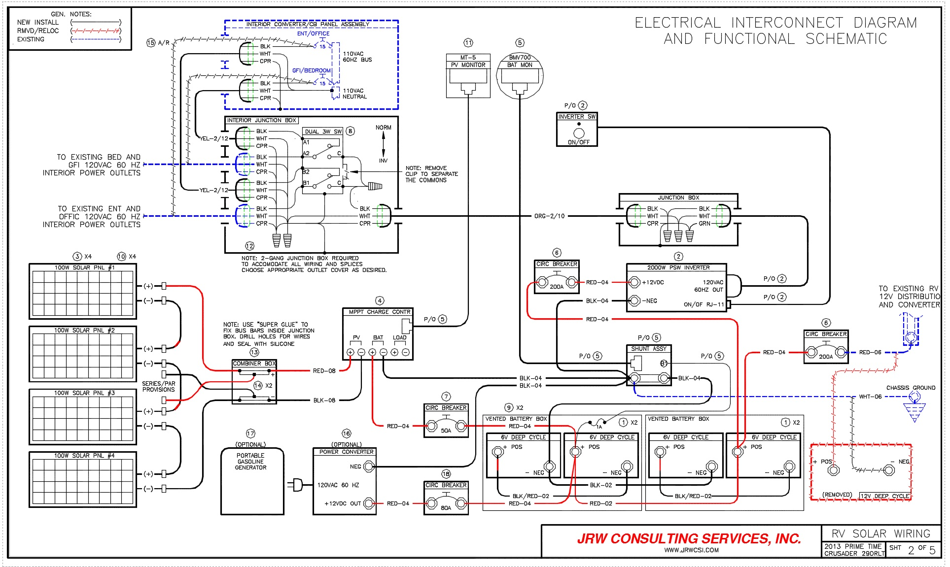 Crusader Rv Electrical Diagram Trusted Wiring Aq130 Power Upgrade Live Breathe Move 2000 R Vision Condor